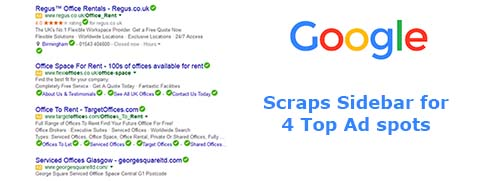 Google Scraps Sidebar for 4 Top Ad Spots